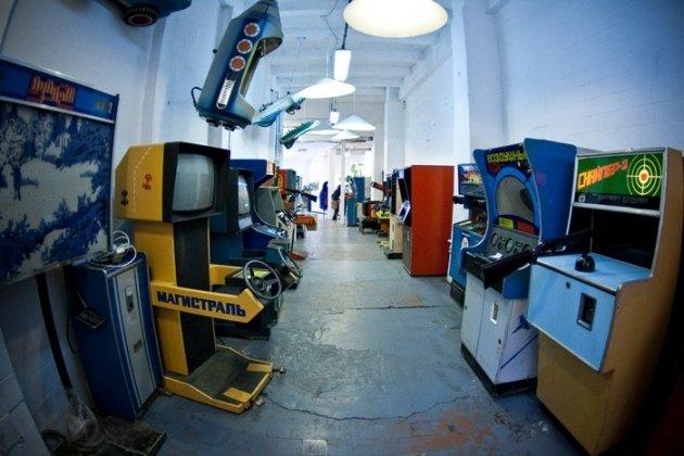 Выставка советских игровых автоматов