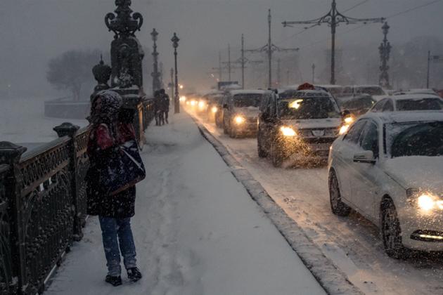 ВПетербурге предполагается снежный шторм