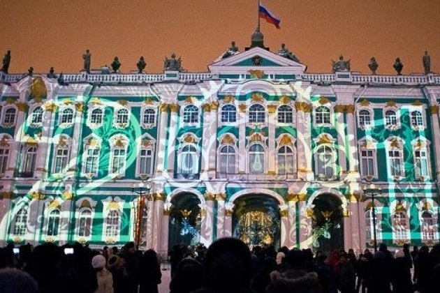 Новогодние гуляния наДворцовой площади вПетербурге начнутся зачас дополуночи