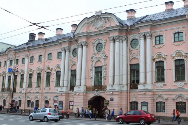 Строгановский дворец архитектора Ф. Б. Растрелли
