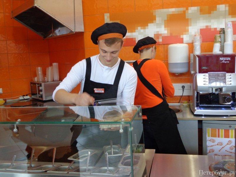 Работа в ресторане под питером